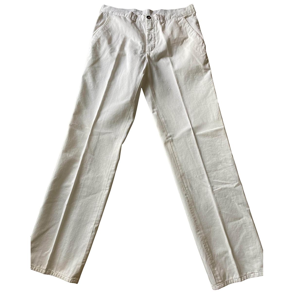 Pantalones en Algodon Blanco Ballantyne