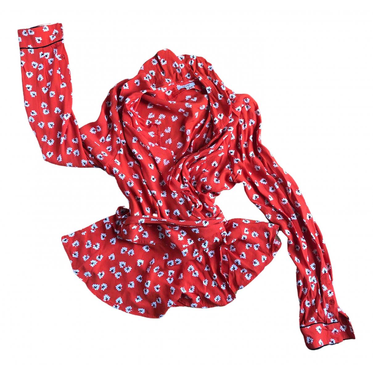 Ganni - Top   pour femme - rouge