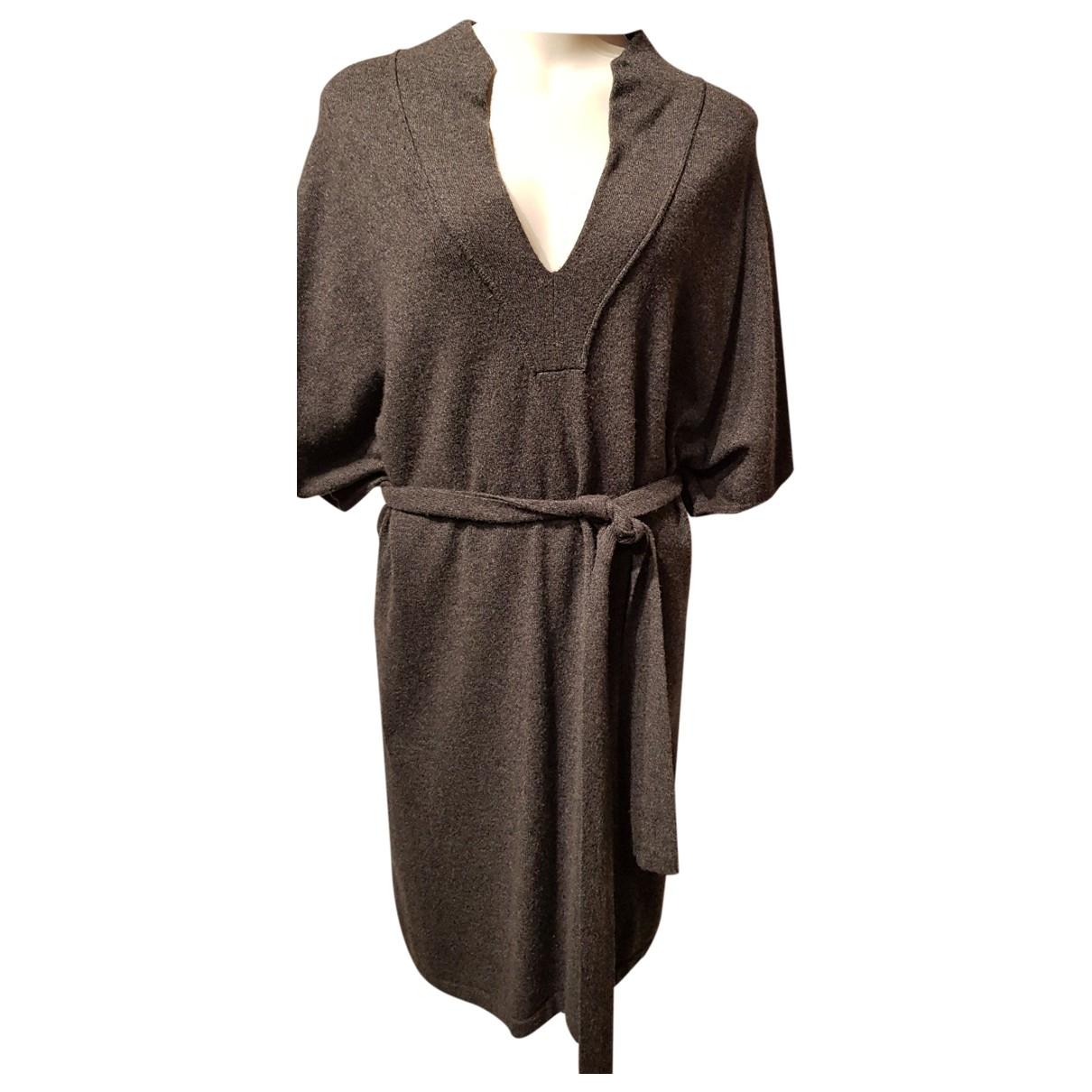 Max & Moi - Robe   pour femme en cachemire - anthracite