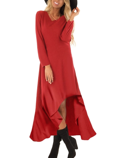 Yoins Auxo V-neck Long Sleeves Dress