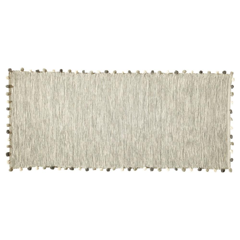 Baumwollteppich, 80x200, naturfarben