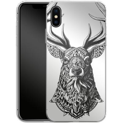 Apple iPhone X Silikon Handyhuelle - Ornate Buck von BIOWORKZ