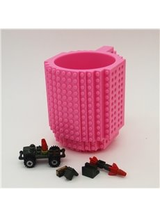 Creative DIY Build-on Brick Unique Gift Plastic Coffee Mug