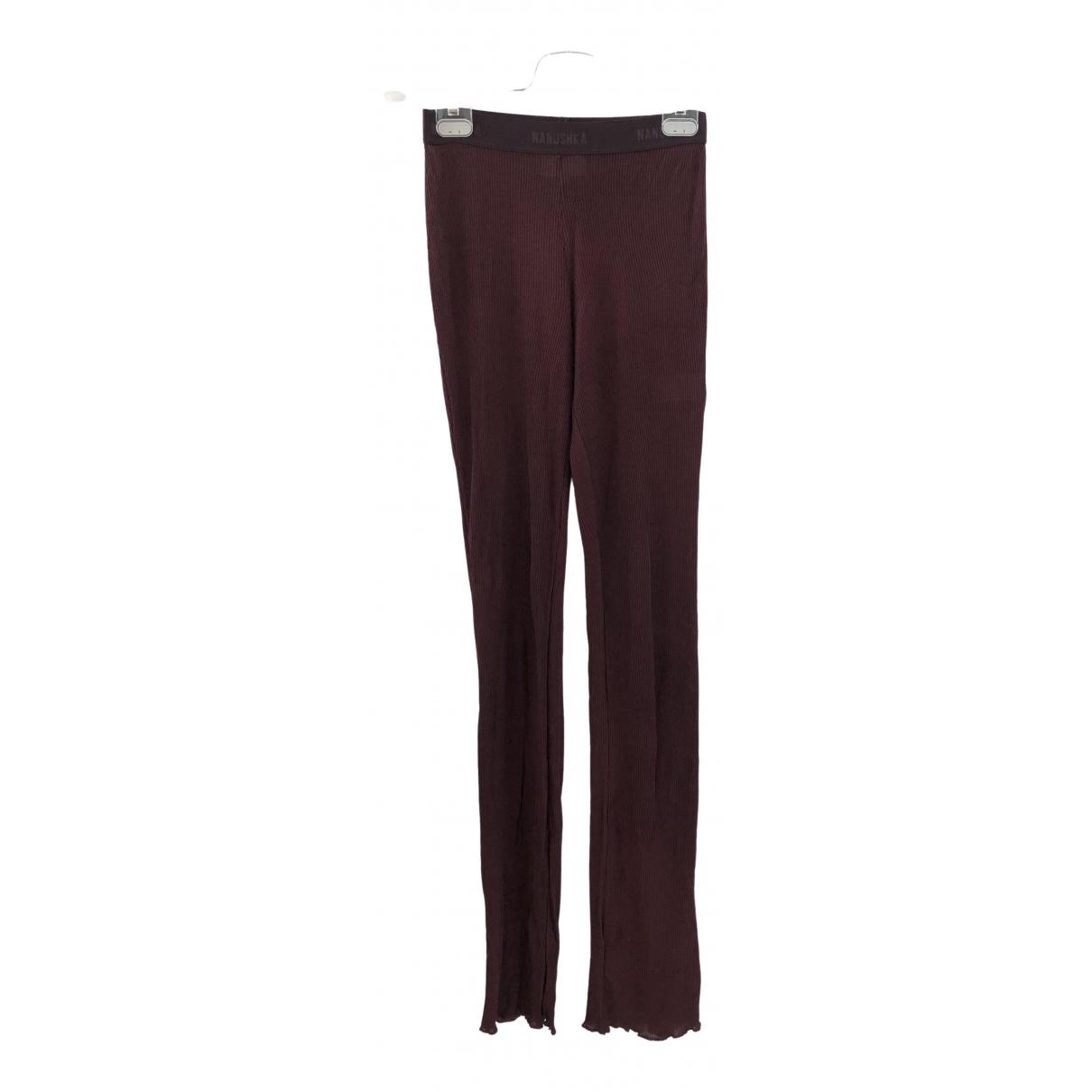 Nanushka \N Burgundy Trousers for Women XS International