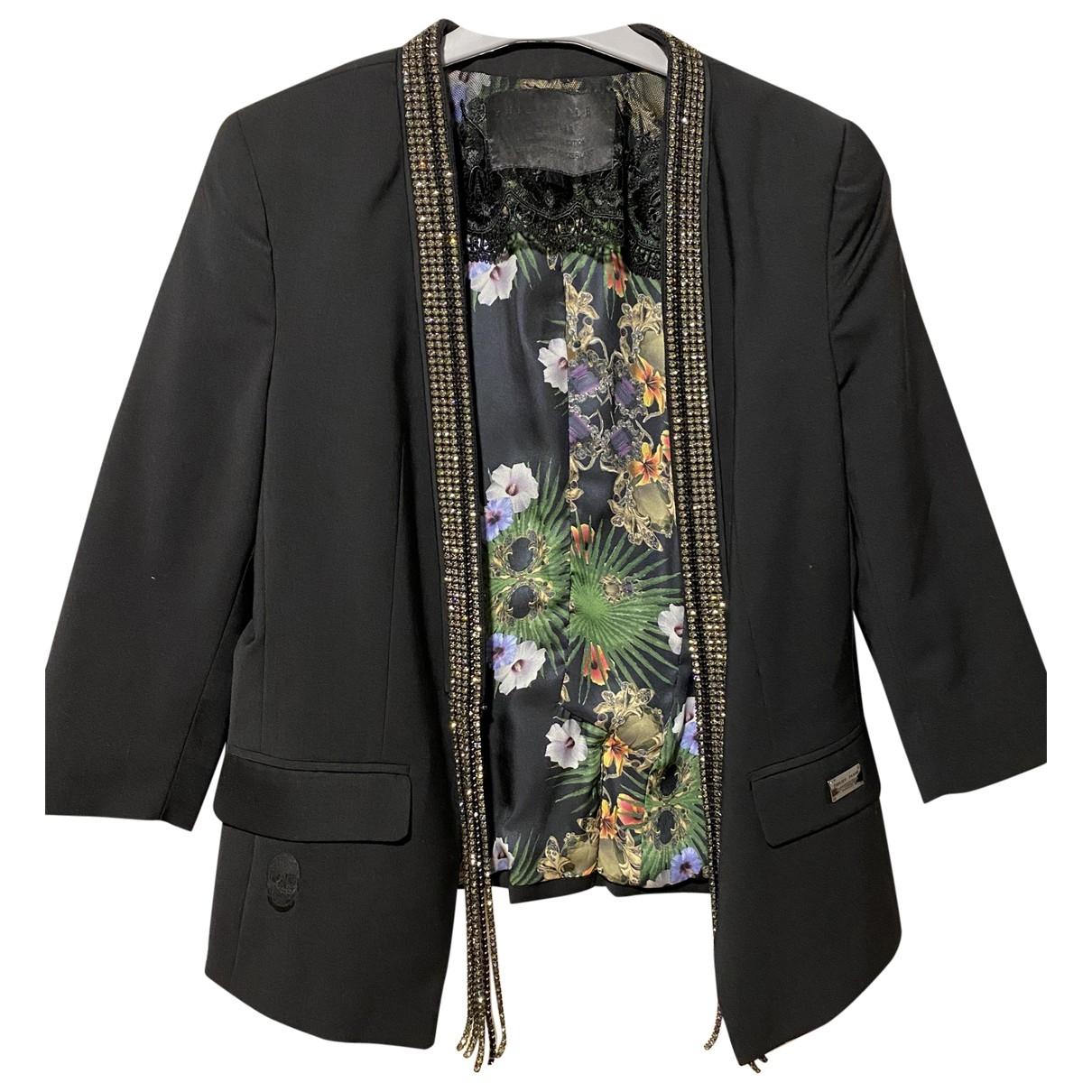 Philipp Plein - Veste   pour femme en coton - noir