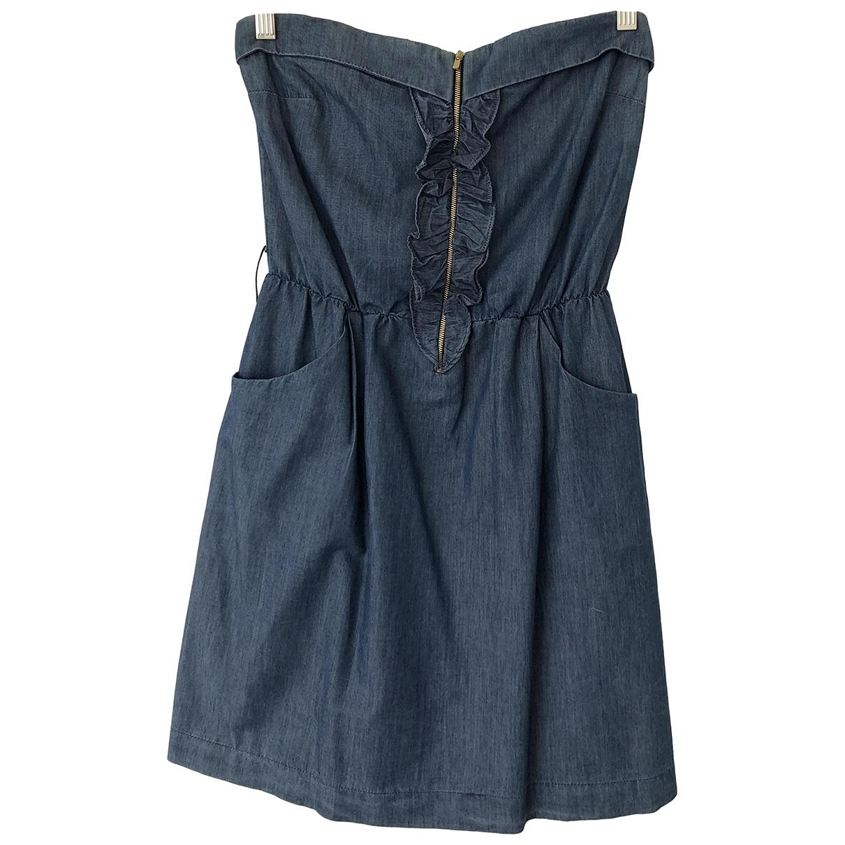 Sandro - Robe   pour femme en denim - bleu