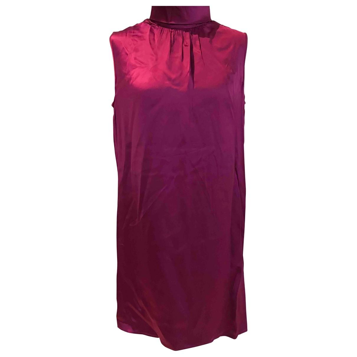 Oscar De La Renta \N Kleid in  Rosa Viskose