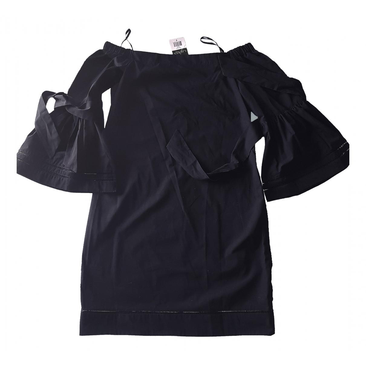 Lauren Ralph Lauren - Robe   pour femme en coton - noir