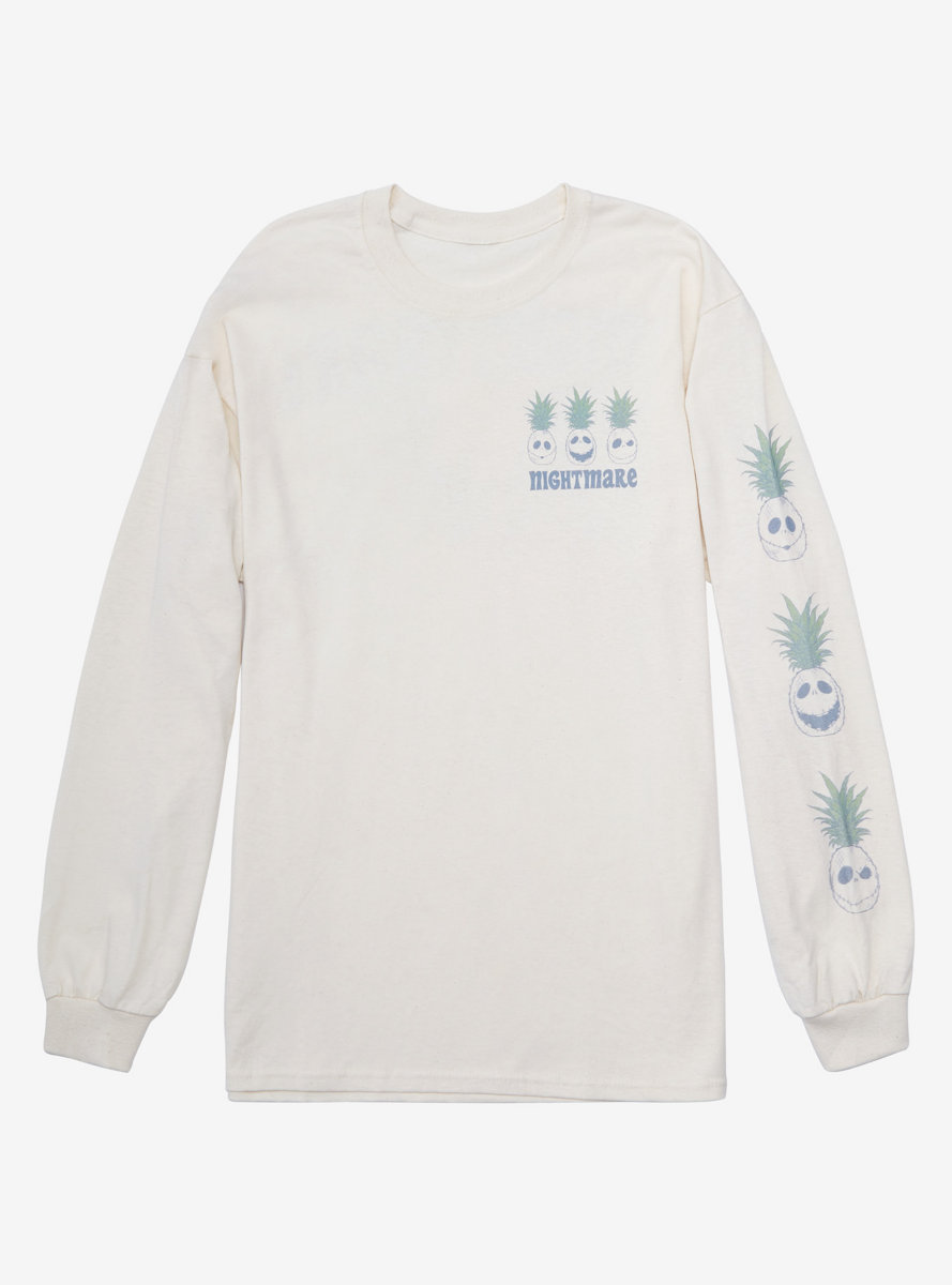 Disney The Nightmare Before Christmas Summer Pineapple Jack Skellington Long Sleeve T-Shirt - BoxLunch Exclusive