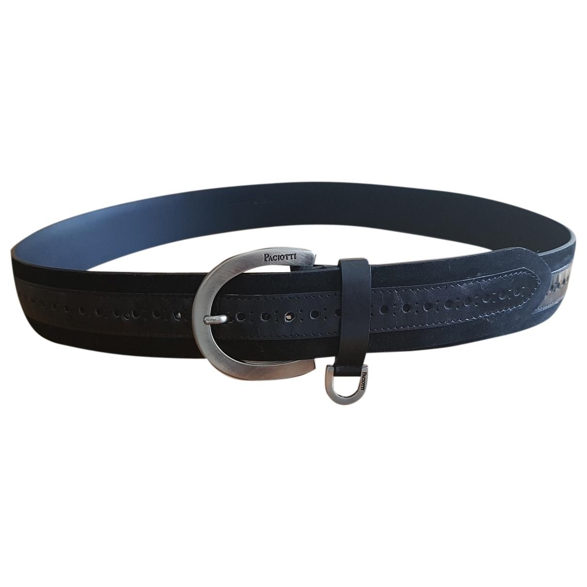 Cesare Paciotti \N Black Leather belt for Men 100 cm