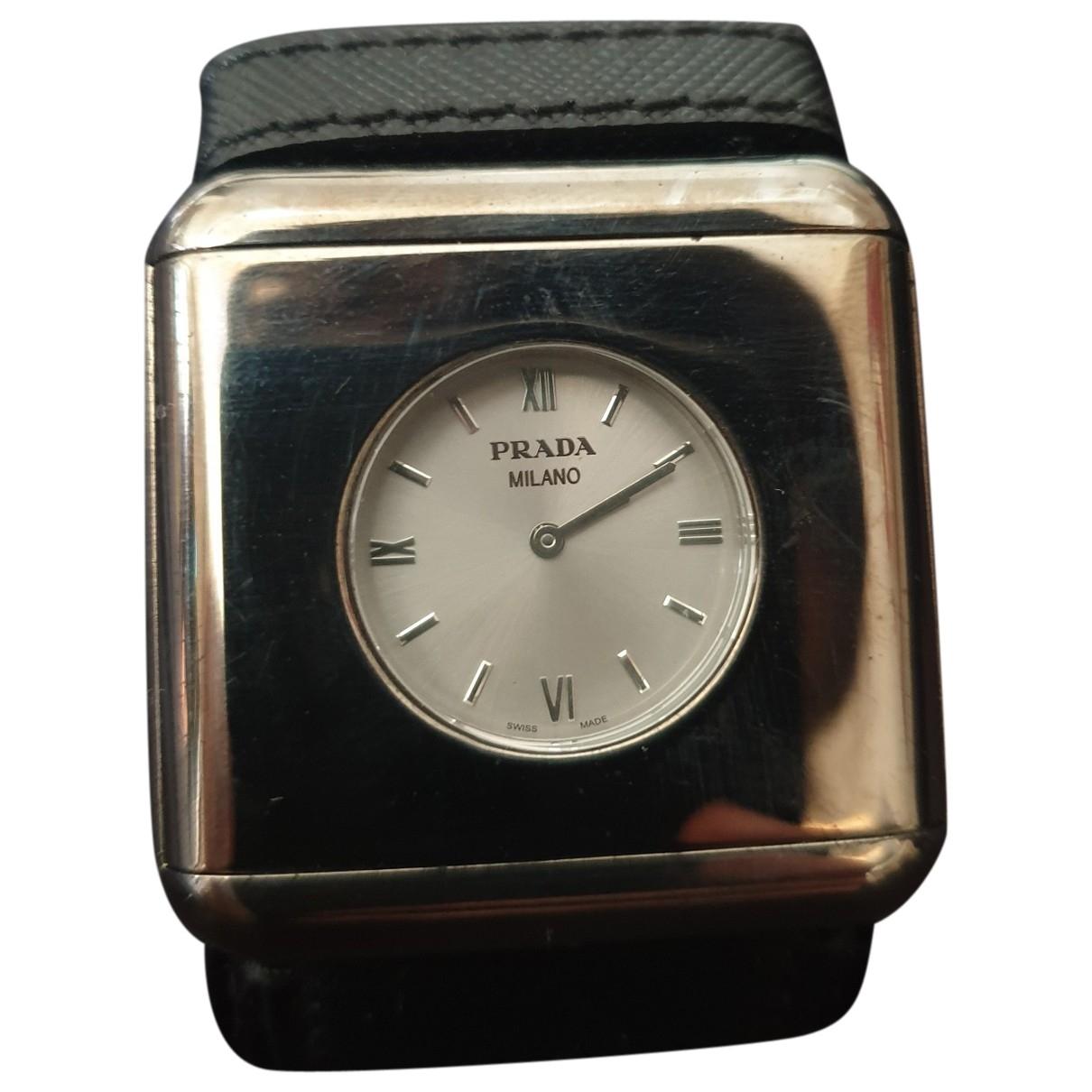Prada \N Black Steel watch for Women \N