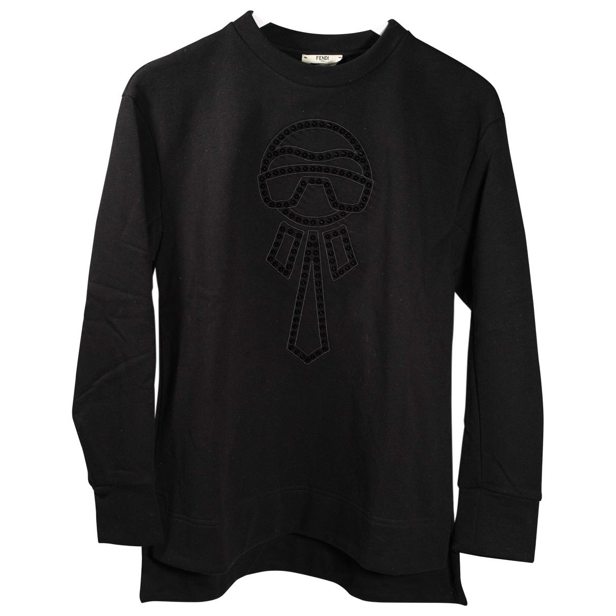 Fendi \N Black Cotton Knitwear for Women 36 FR
