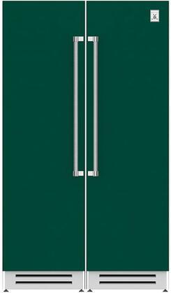 48 Side-by-Side Column Refrigerator & Freezer Set with KFCL24GR 24 Left Hinge Freezer and KRCR24GR 24 Right Hinge Refrigerator in