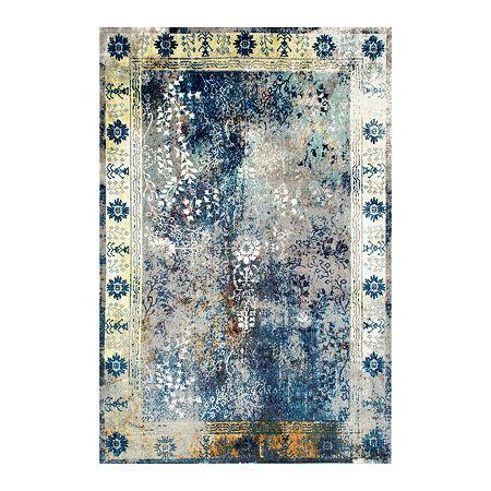 nuLoom Vintage Dotty Rug, One Size , Blue