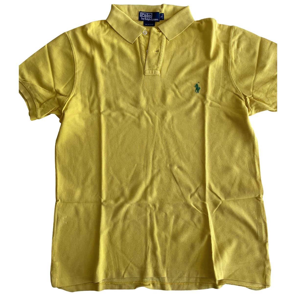 Polo Ralph Lauren Polo classique manches courtes Yellow Cotton Polo shirts for Men L International