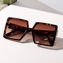 Tortoiseshell Frame Square Frame Sunglasses