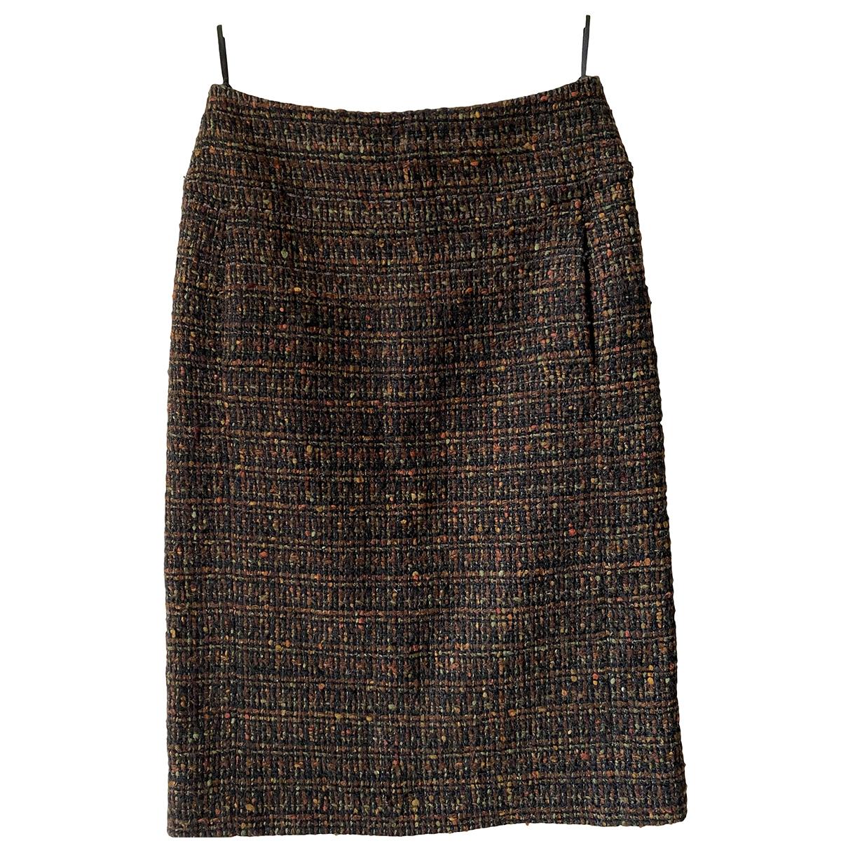 Chanel \N Brown Wool skirt for Women 38 FR