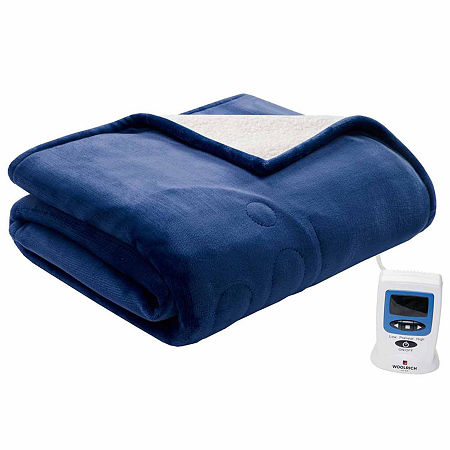 Woolrich Heated Plush To Berber Heated Electric Blanket, One Size , Blue