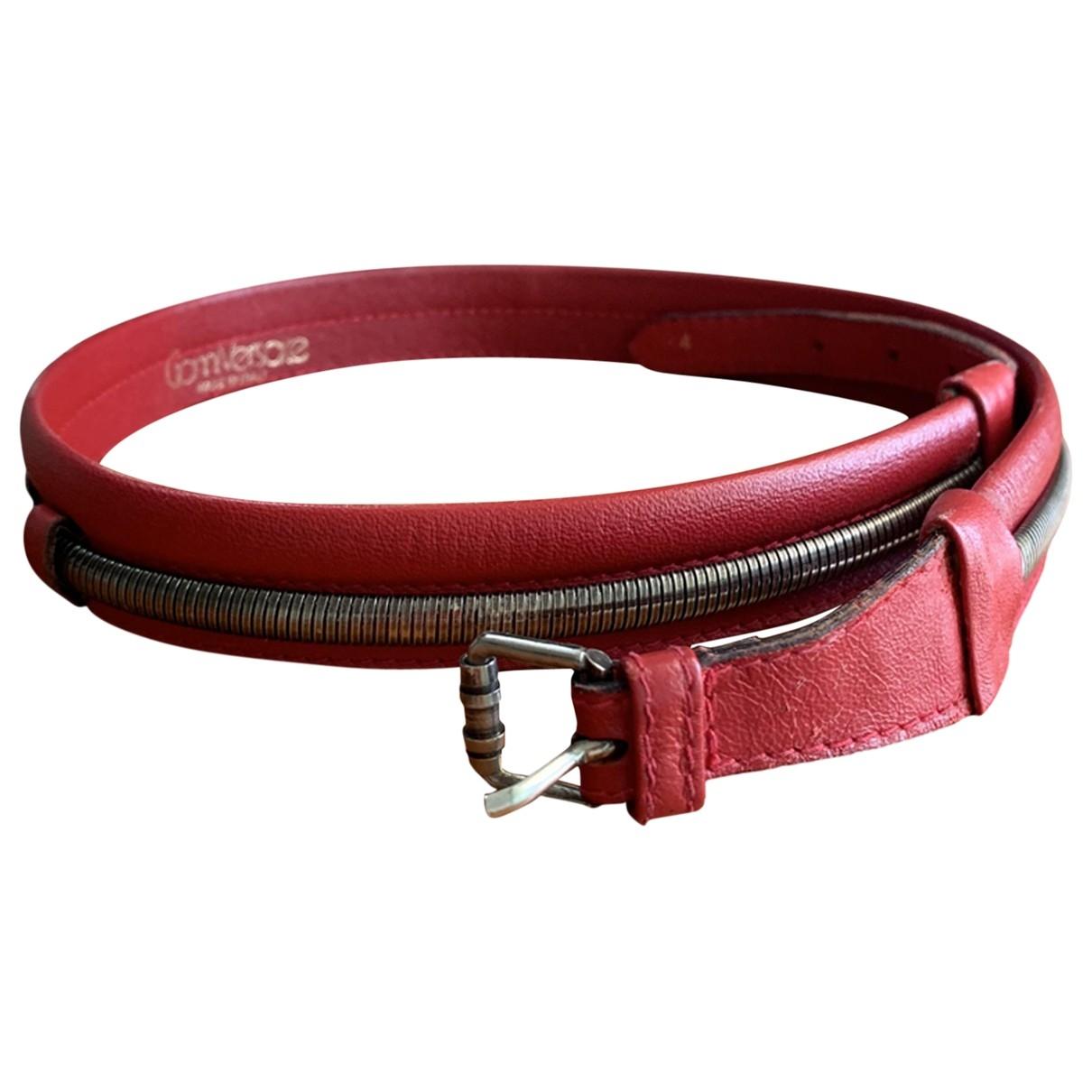 Gianni Versace \N Guertel in  Rot Leder