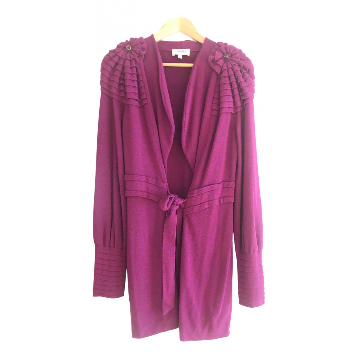 Temperley London - Pull   pour femme en laine - violet