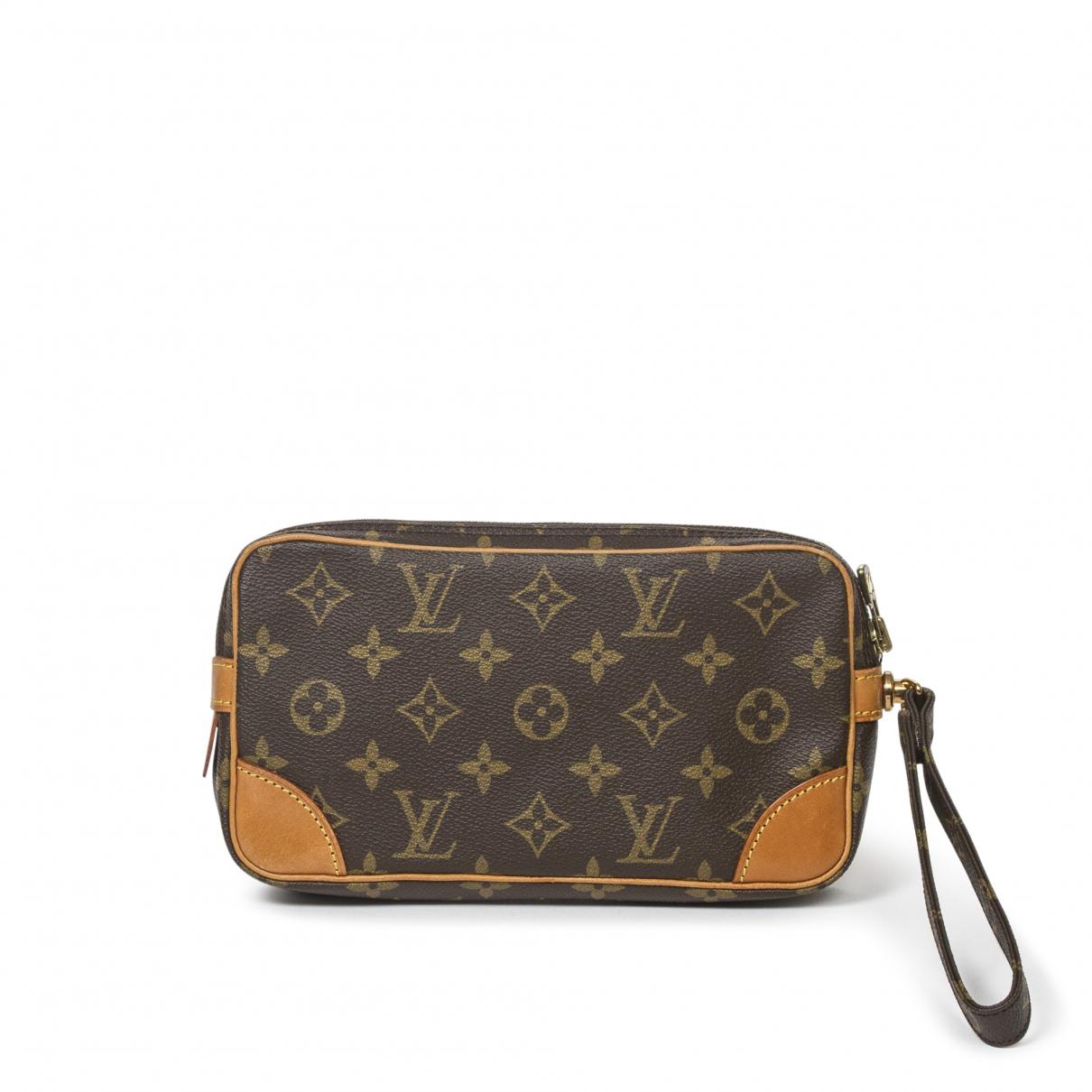 Louis Vuitton - Pochette Marly Dragonne  pour femme en coton - marron