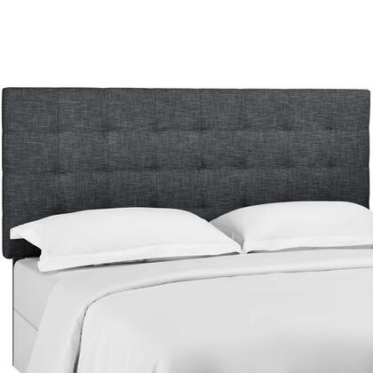 Paisley Collection MOD-5855-GRY Tufted King and California King Upholstered Linen Fabric Headboard in Grey