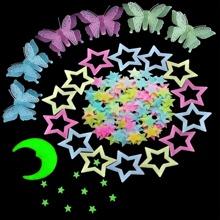 130 Stuecke Wandaufkleber mit Mond & Stern Muster