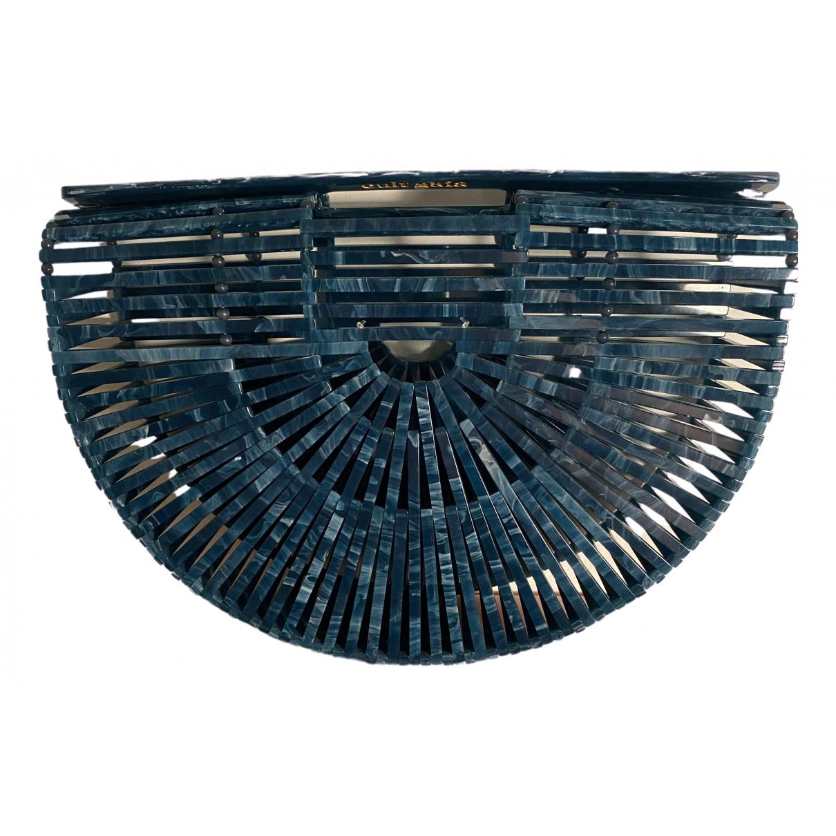 Cult Gaia Acrylic Ark Handtasche in  Blau Kunststoff