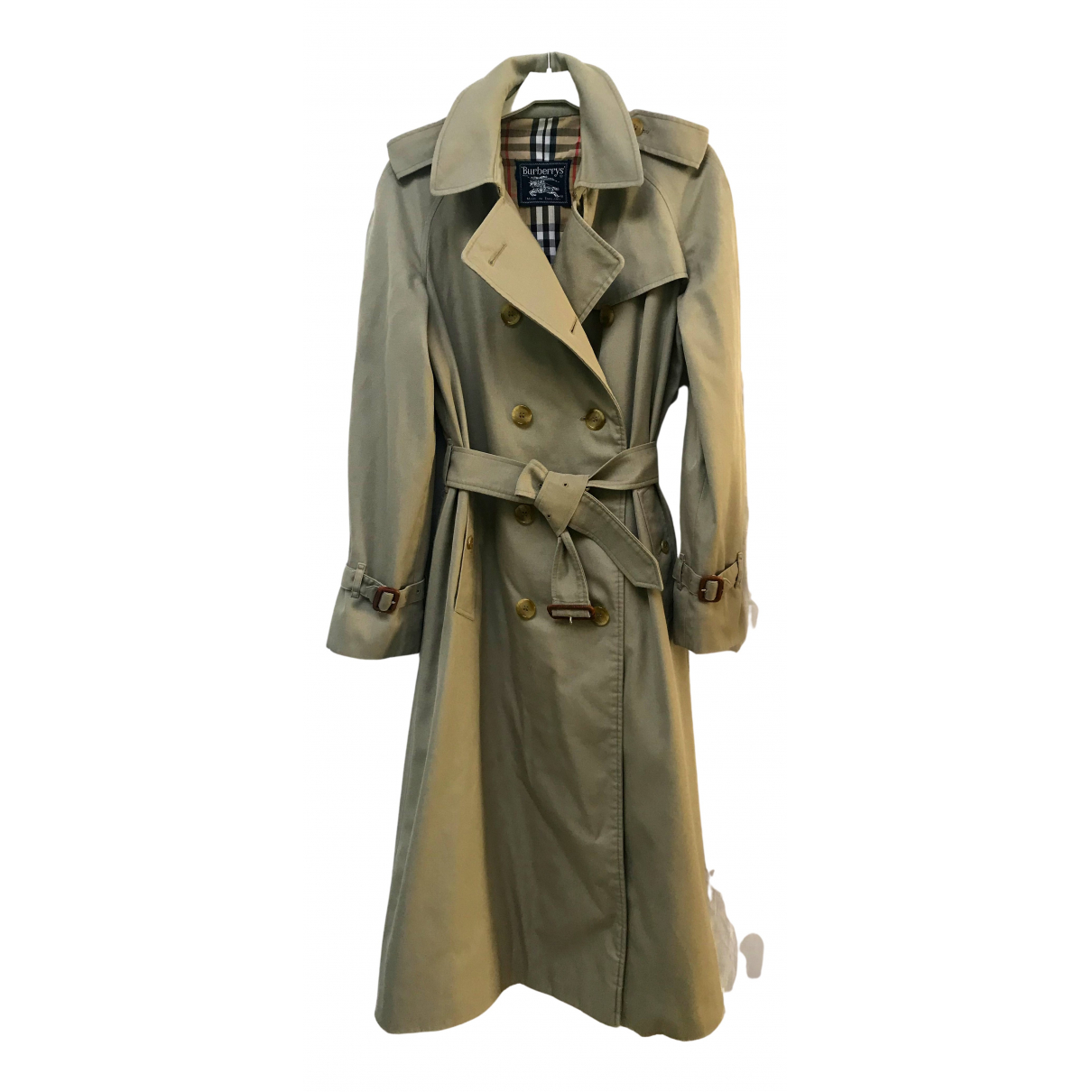 Burberry \N Trench in  Khaki Polyester