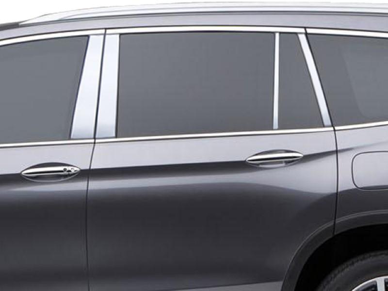 Quality Automotive Accessories 8 Piece Stainless Pillar Post Trim Honda Pilot  16-18