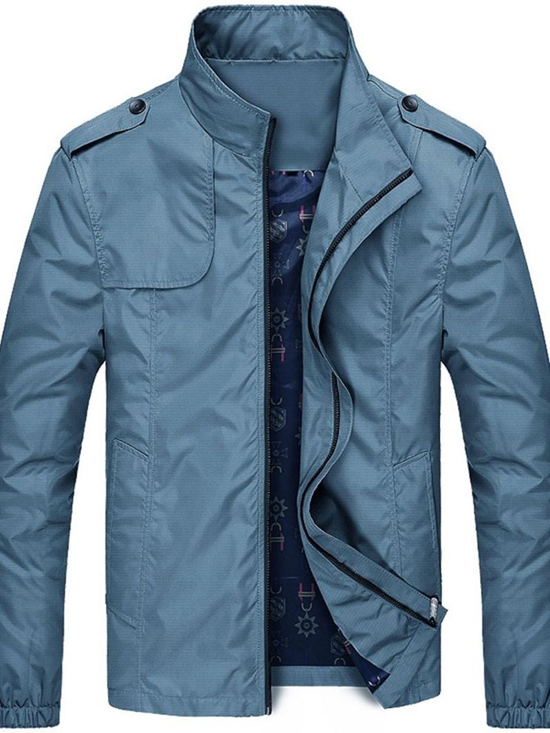 Ericdress Zipper Stand Collar Thin Style Men's Jacket