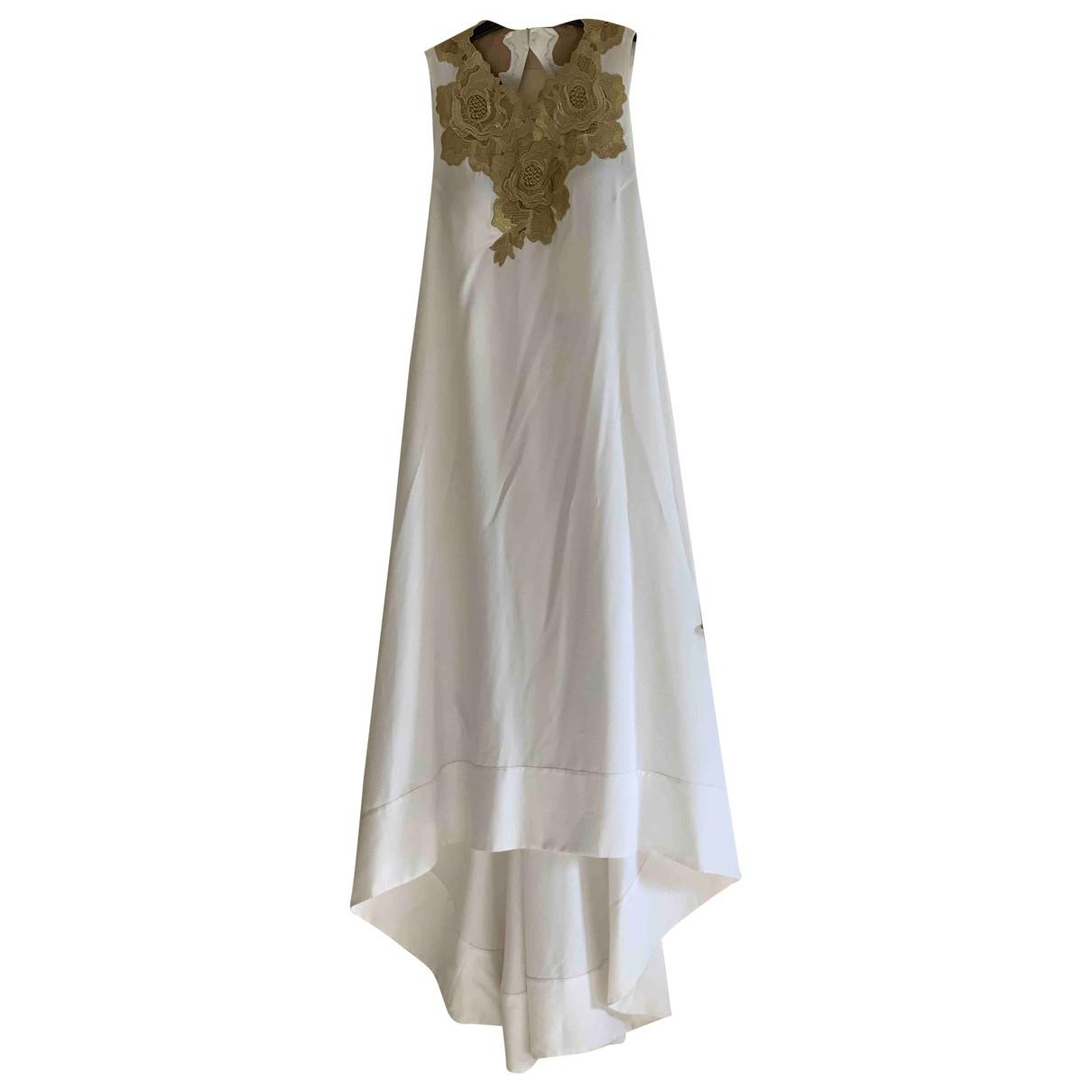 Bcbg Max Azria \N Kleid in  Weiss Seide
