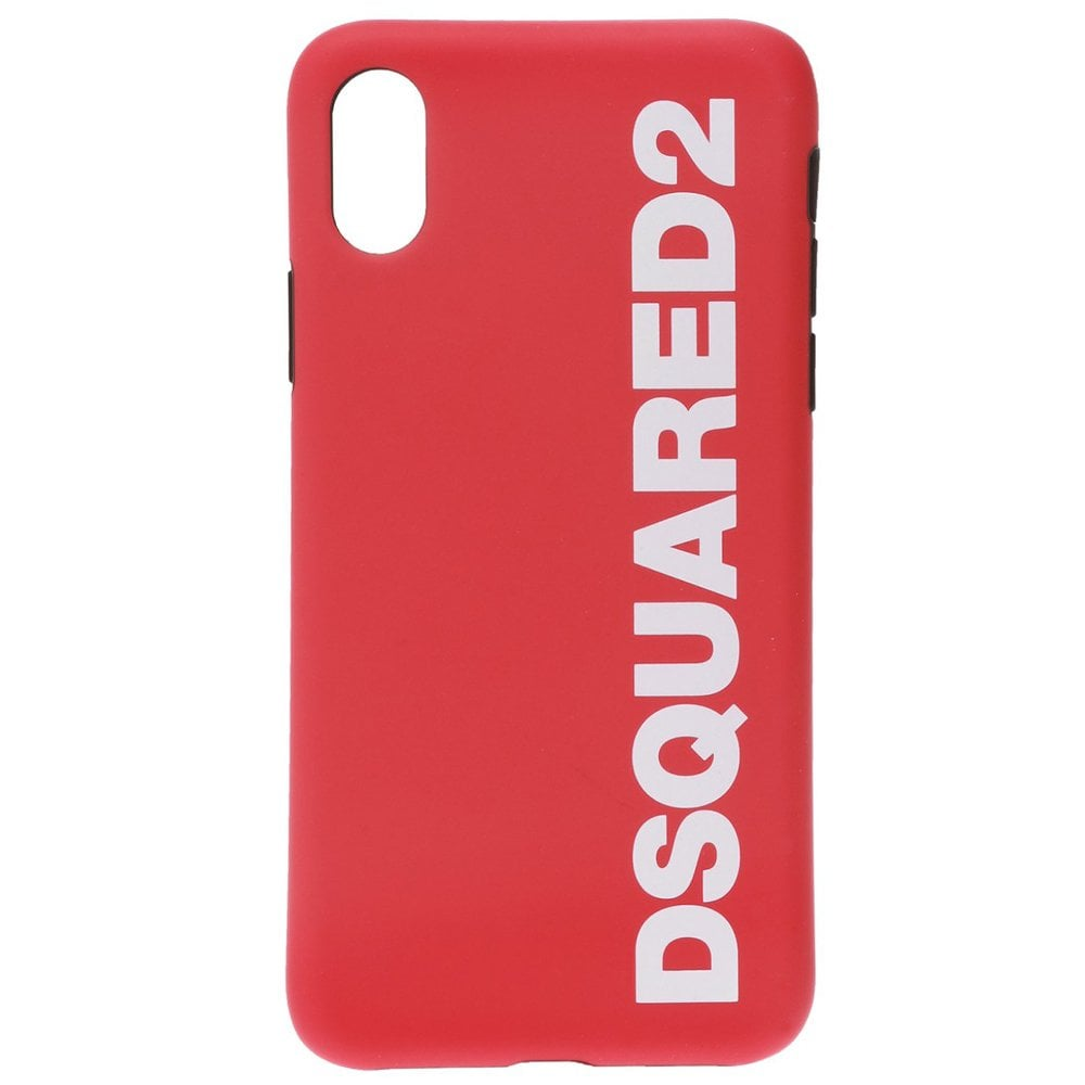 DSquared2 Logo iPhone X Phone Case Colour: RED, Size: ONE SIZE