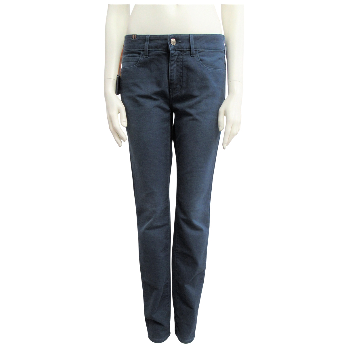 Notify \N Blue Cotton Trousers for Women M International