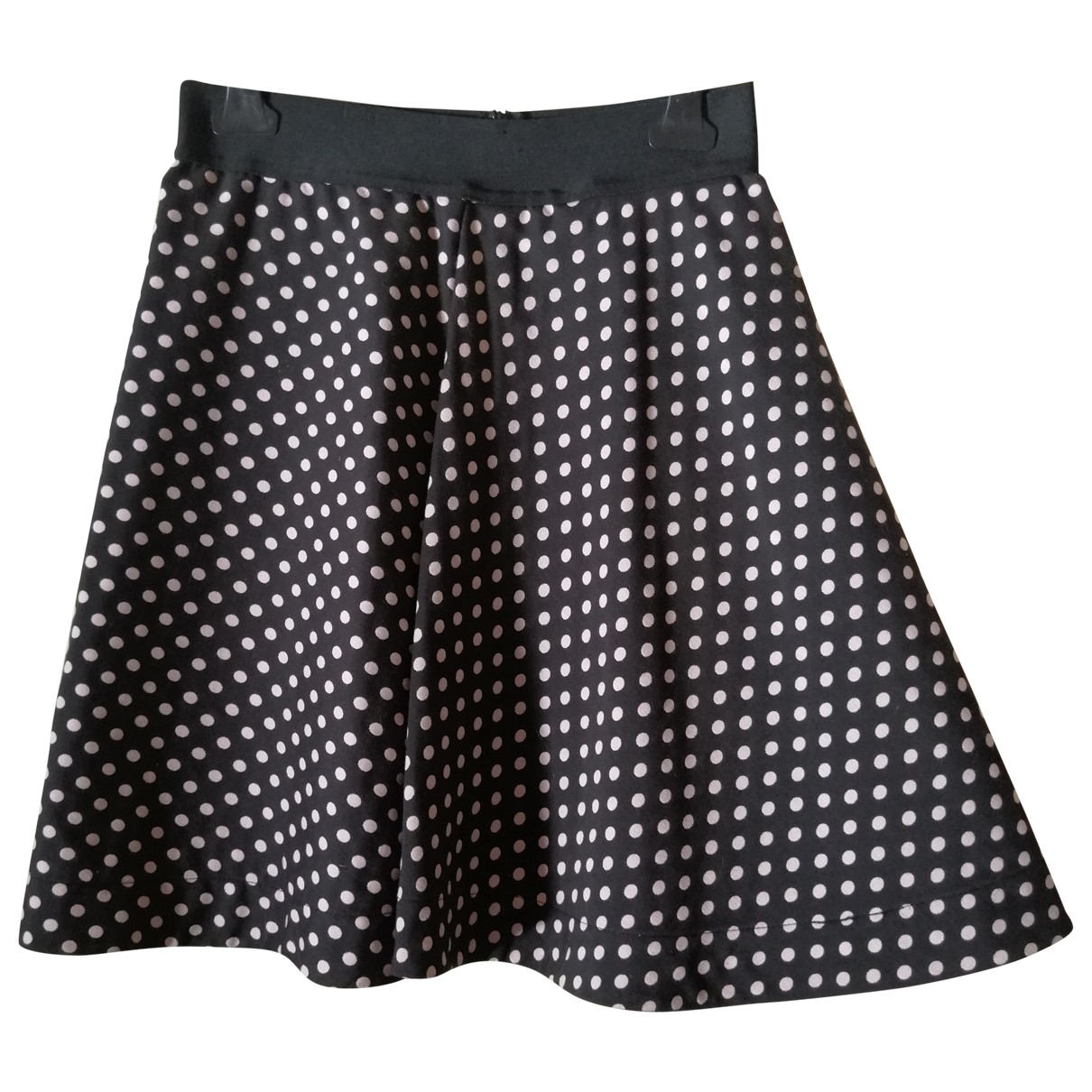 Pinko \N Black Cotton - elasthane skirt for Women 40 IT