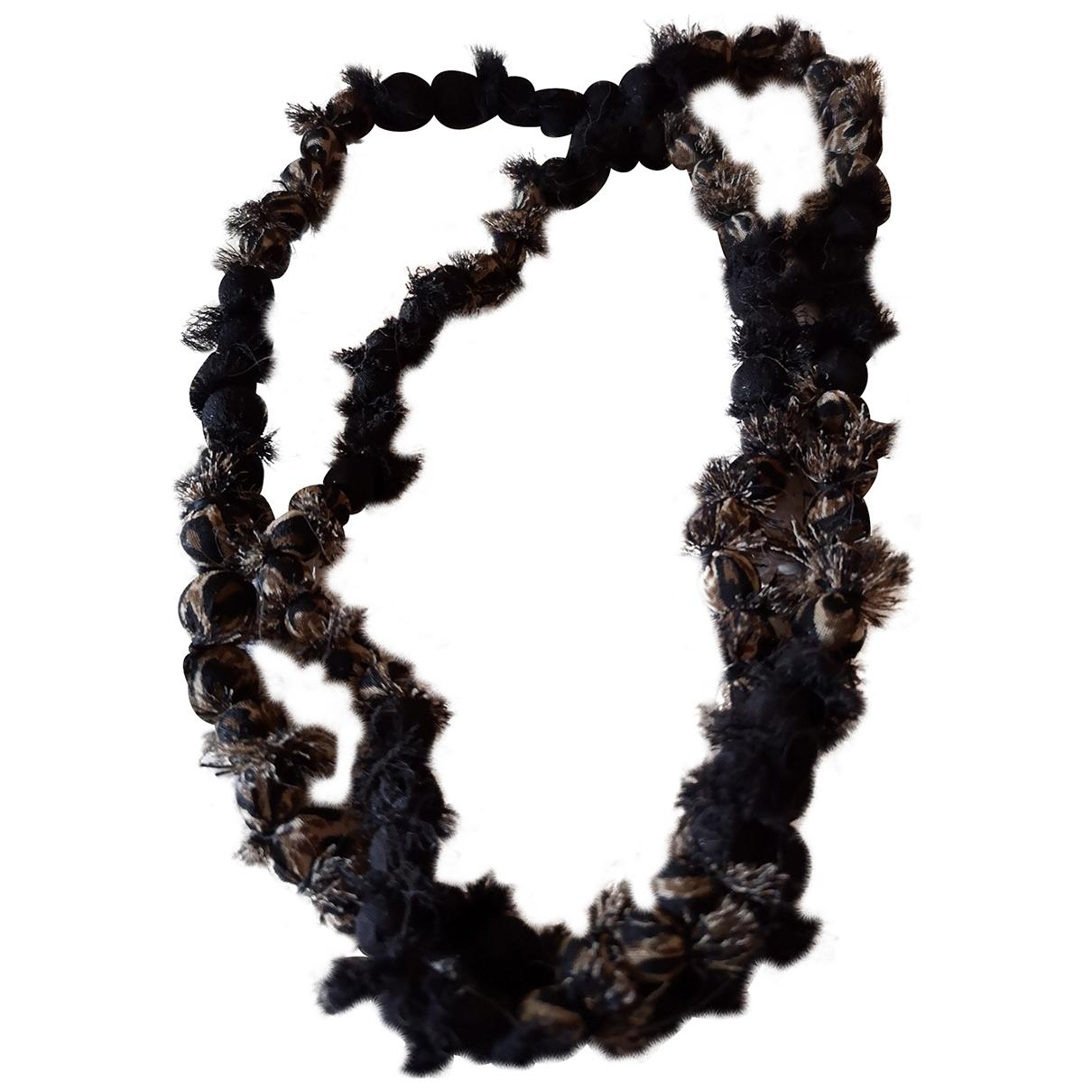 Adolfo Dominguez - Sautoir   pour femme en perles - marron