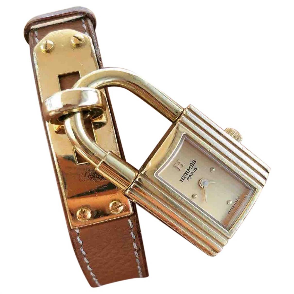 Hermes Kelly Uhr in  Gold Vergoldet