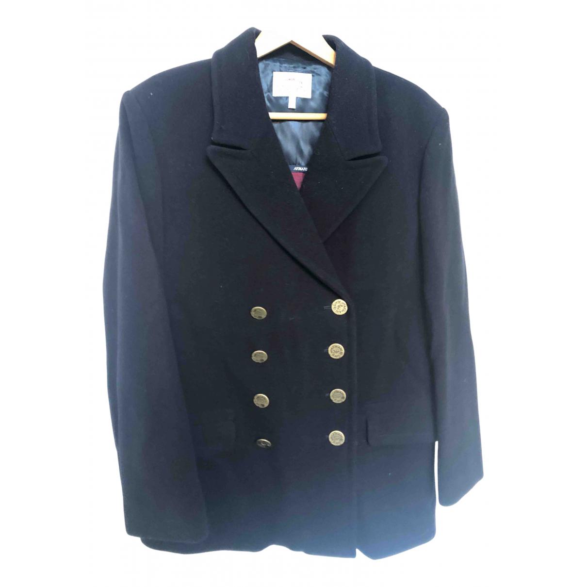 Armani Jeans N Blue Wool jacket for Women 10 US