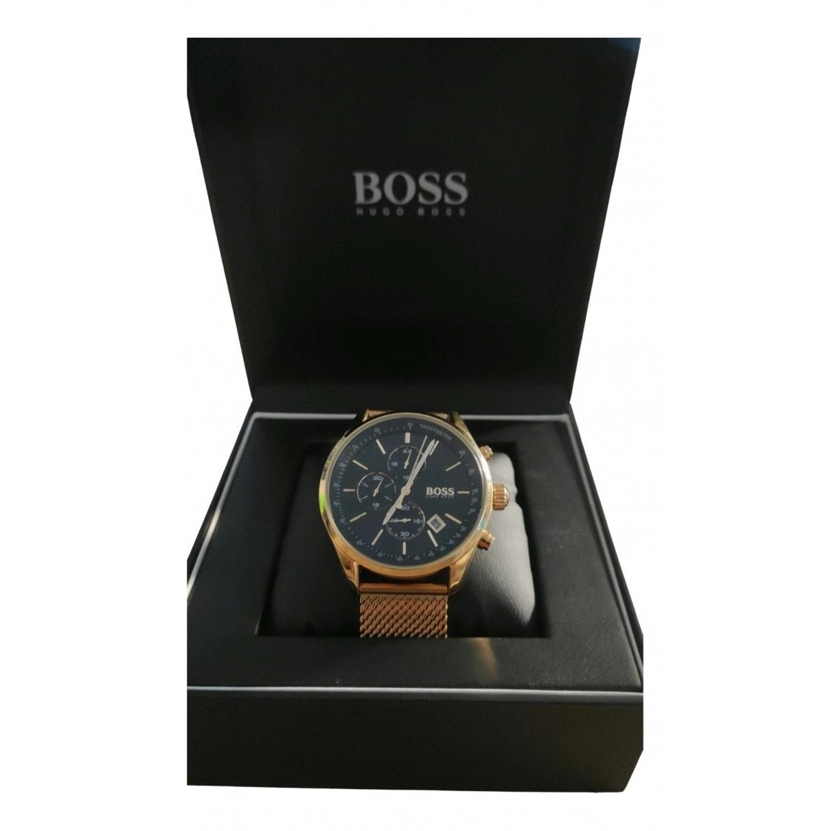 Boss \N Uhr in  Gold Stahl