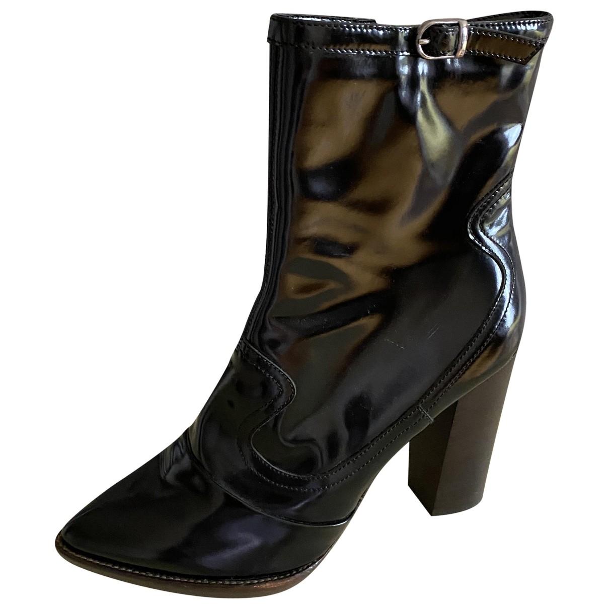 Mulberry - Boots   pour femme en cuir - noir