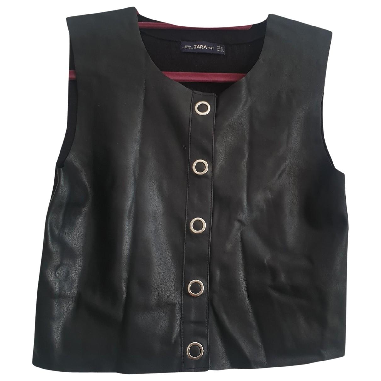 Zara \N Pullover in  Schwarz Polyester