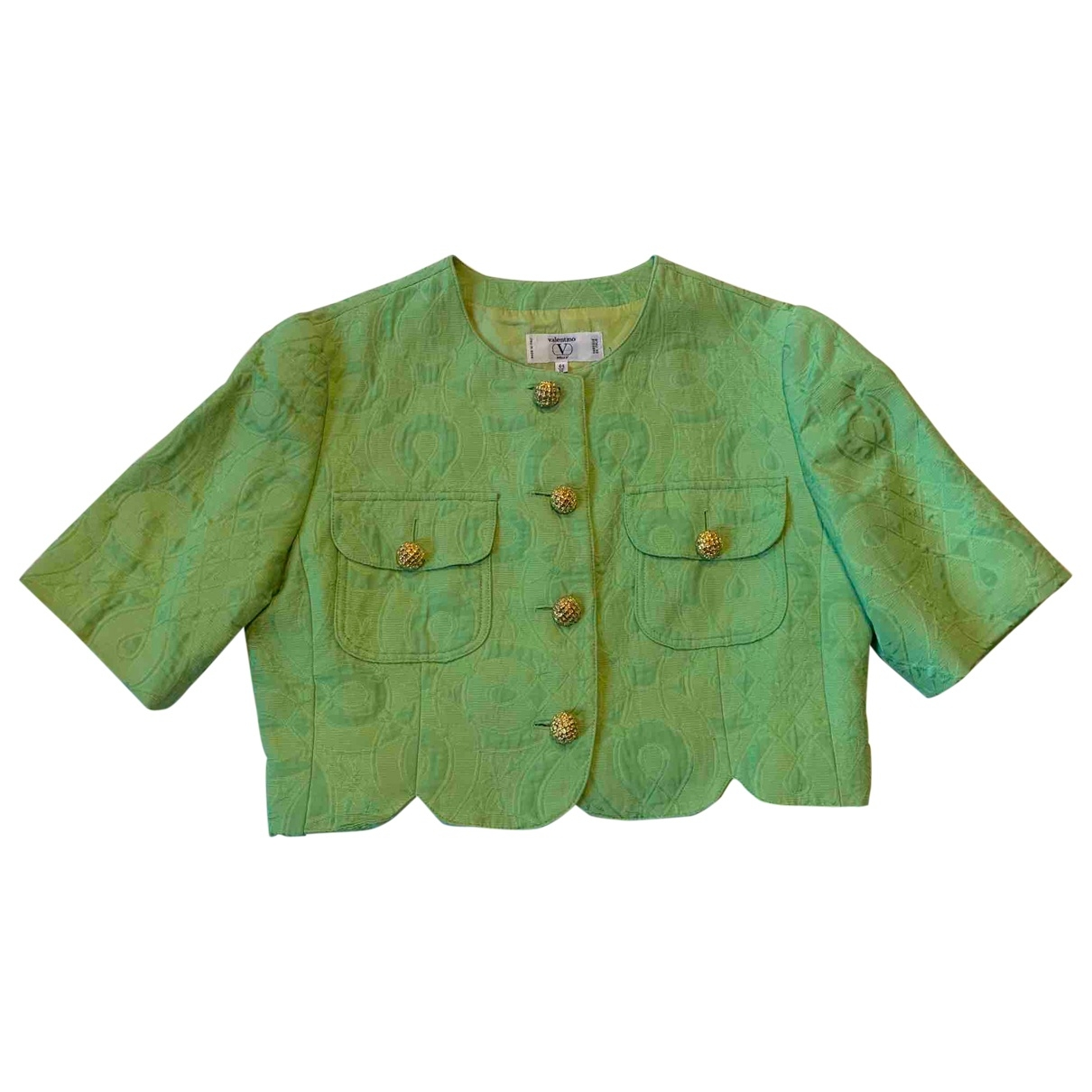 Valentino Garavani \N Green Cotton jacket for Women 44 IT