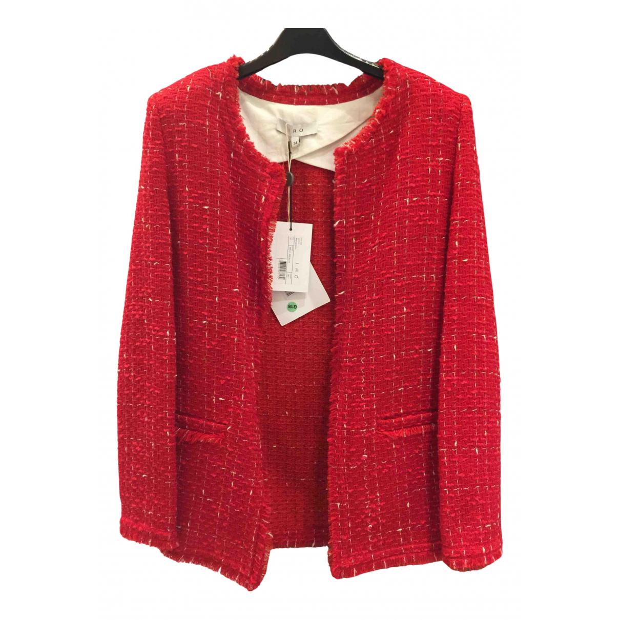 Iro - Veste   pour femme en laine - rouge
