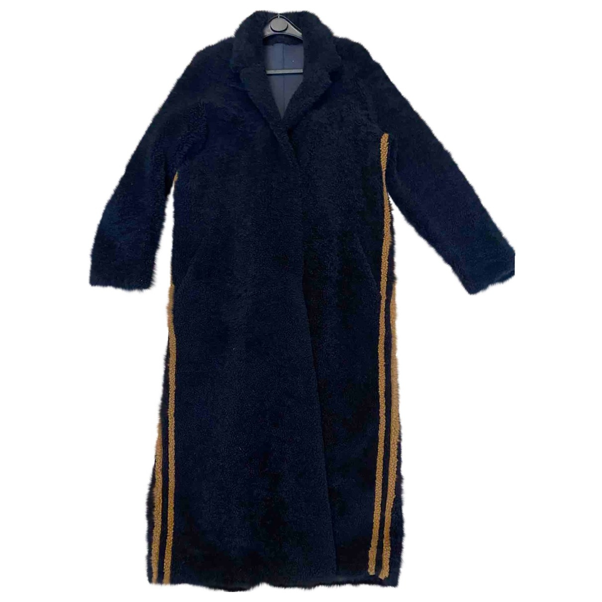 Sprung Frères \N Blue Mongolian Lamb coat for Women 38 FR