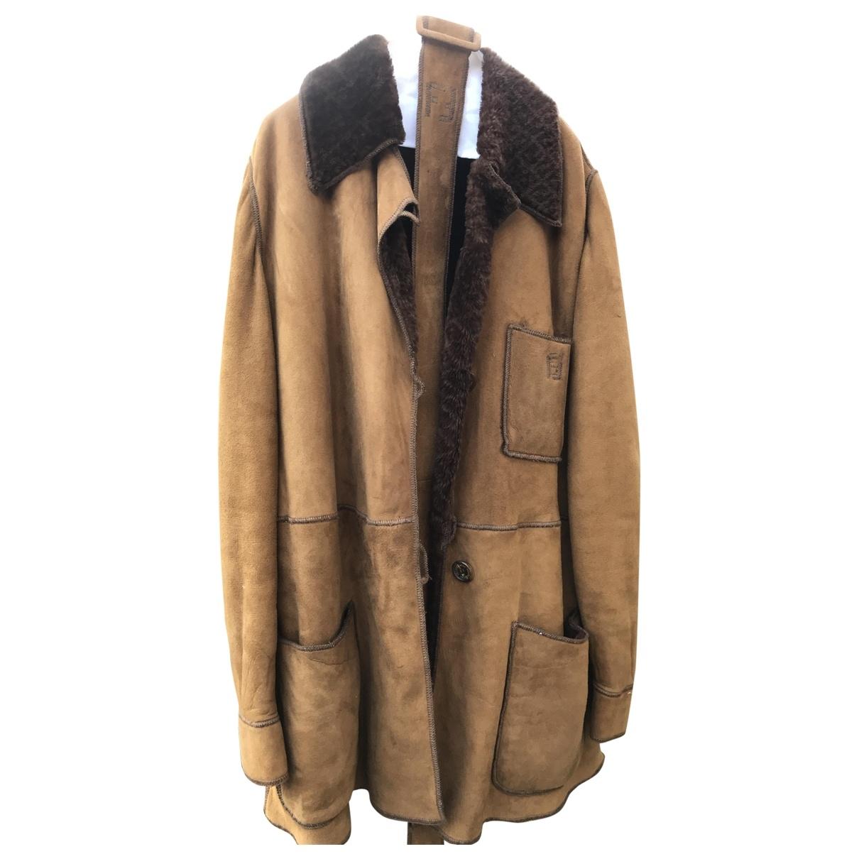 Fendi - Manteau   pour femme en suede - marron