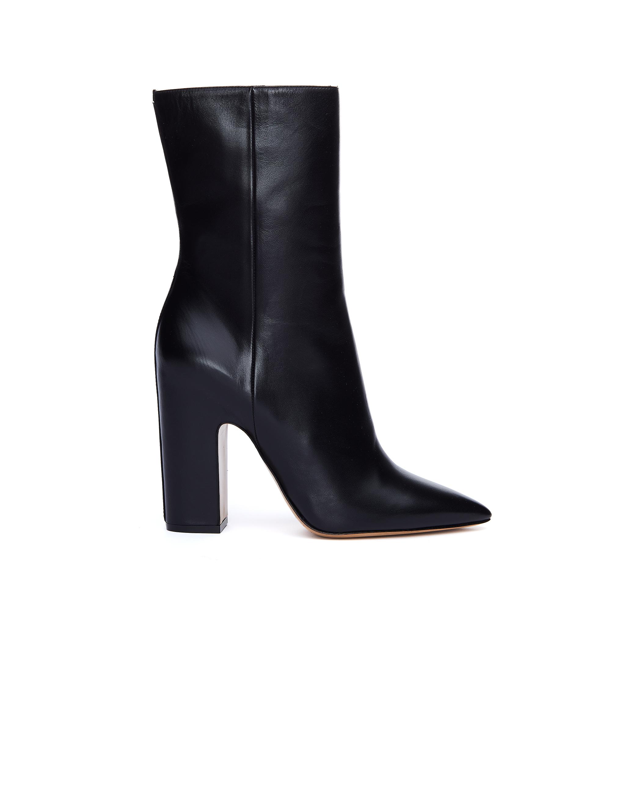 Maison Margiela Pointed Toe Black Leather Boots