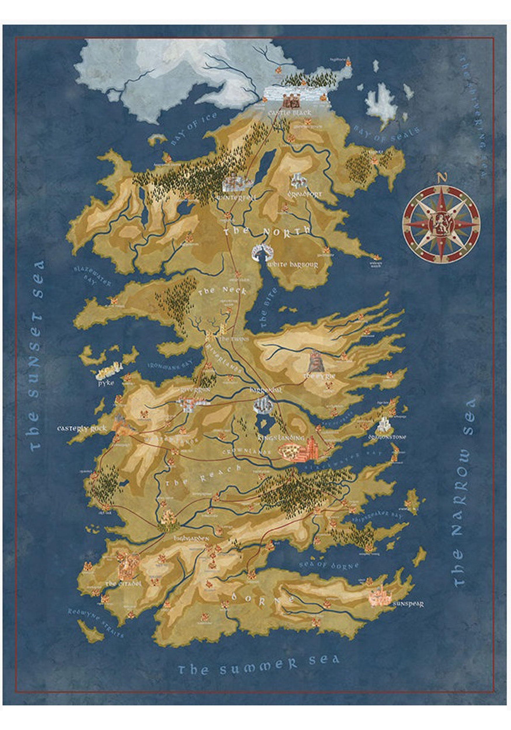Game of Thrones Westeros Map Puzzle