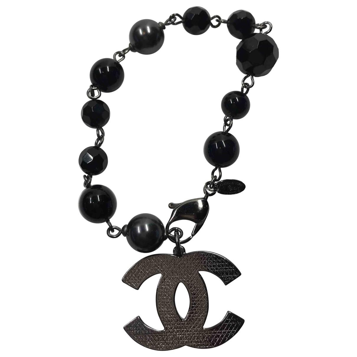 Chanel - Bracelet CC pour femme en metal - noir