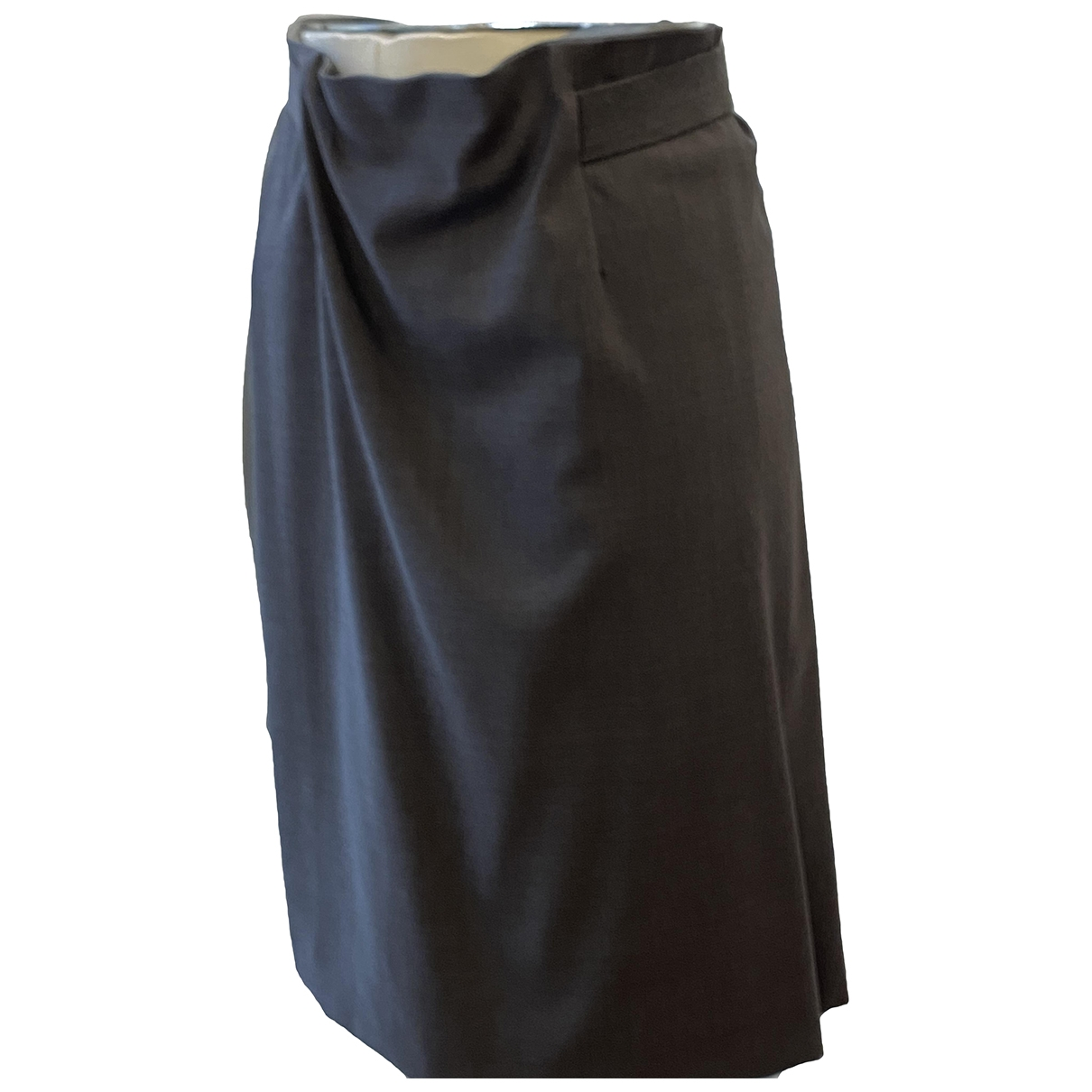 Brunello Cucinelli \N Grey Wool skirt for Women 38 FR