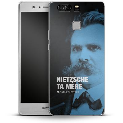 Huawei P9 Silikon Handyhuelle - Nietzsche Ta Mere von Fists Et Lettres